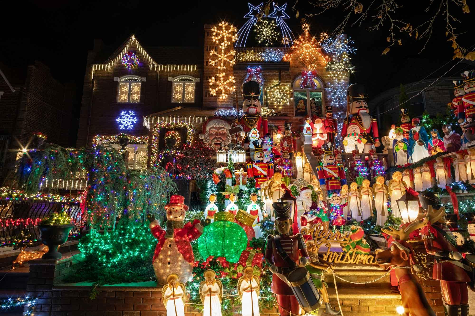 Fotos Casas Decoradas Navidad.Nueva York Semana Alumbrado De Navidad Con Visita Casas